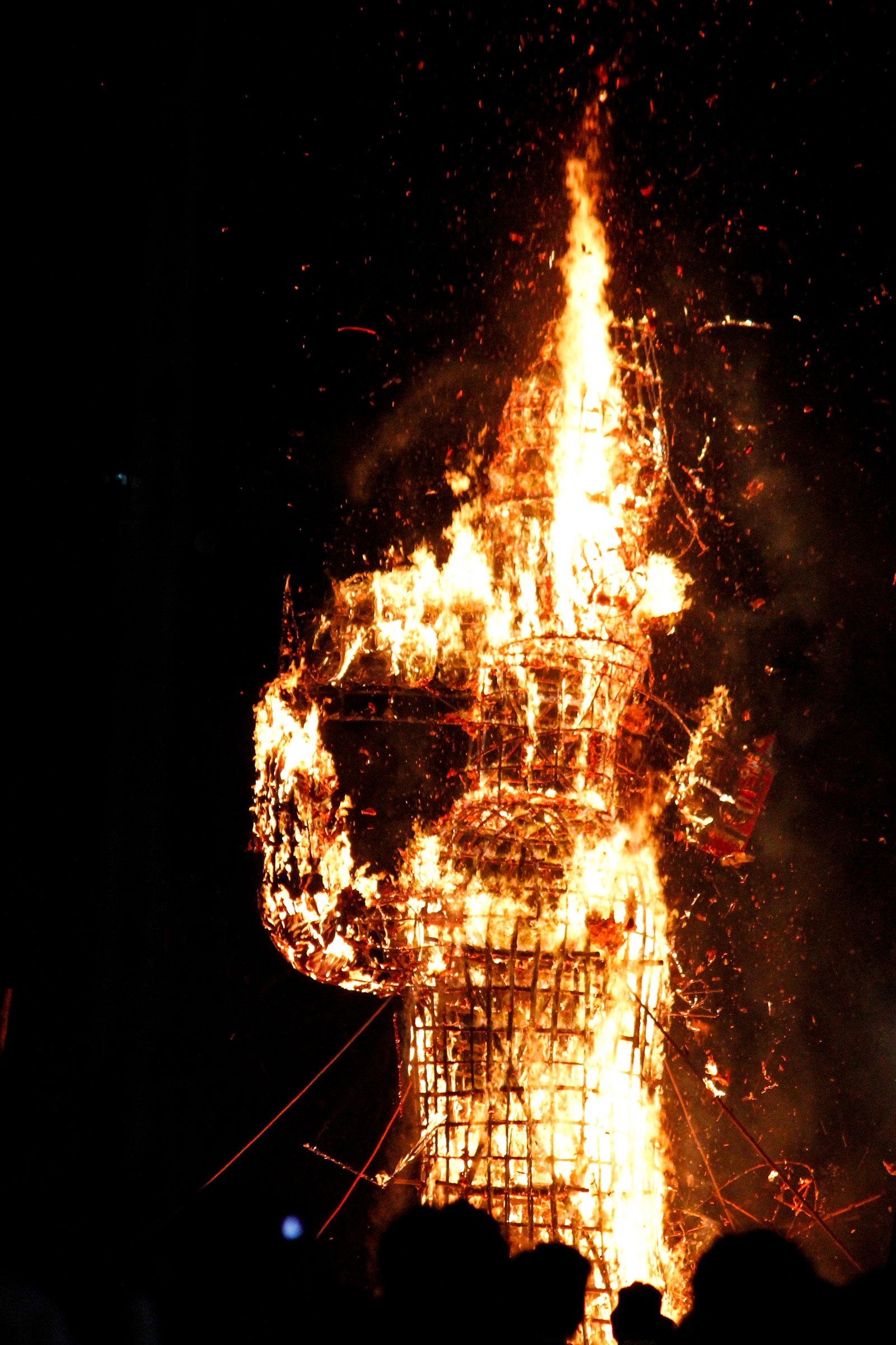 Burning of ravana effigy