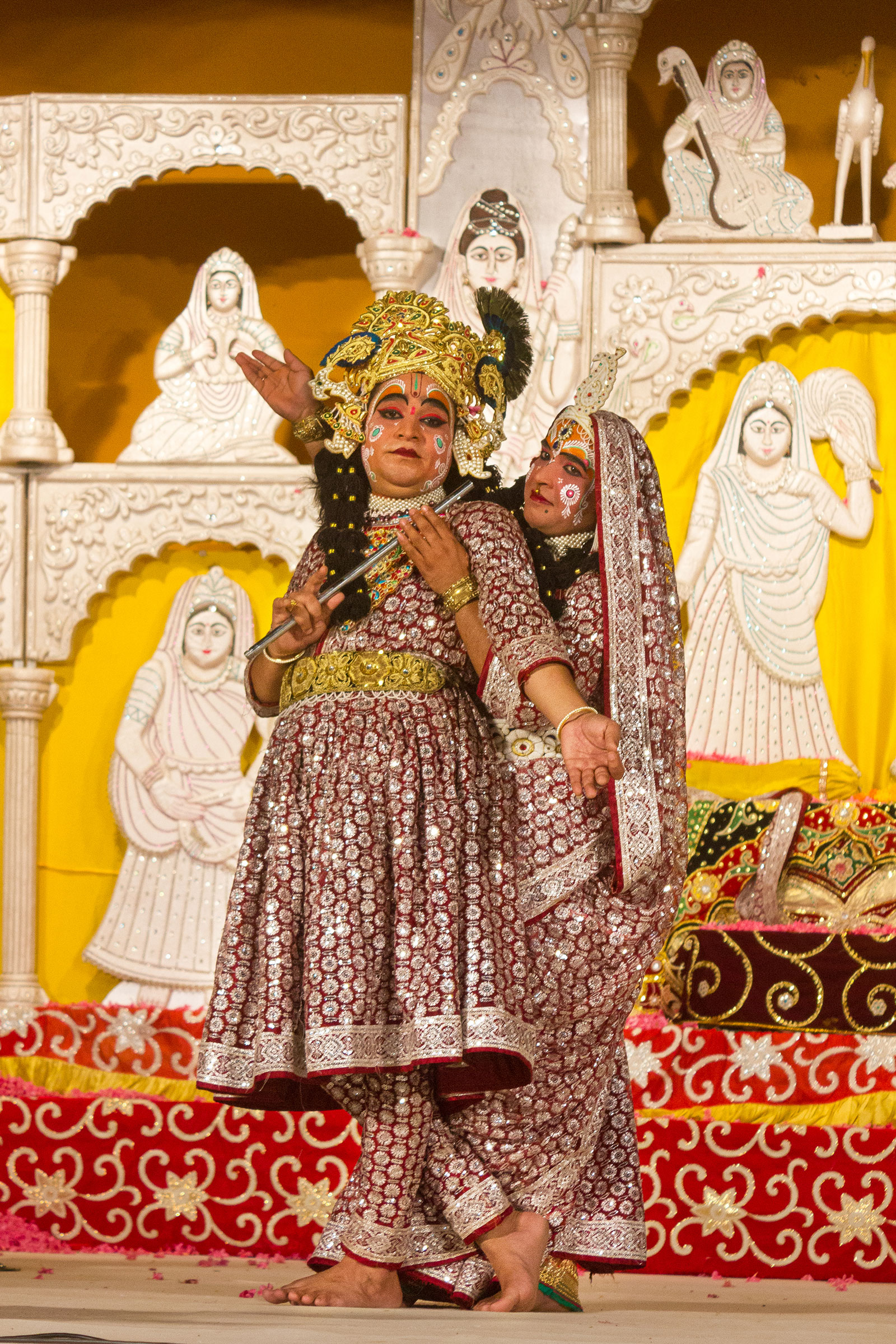 Actors Playing role of Krishna and Radha