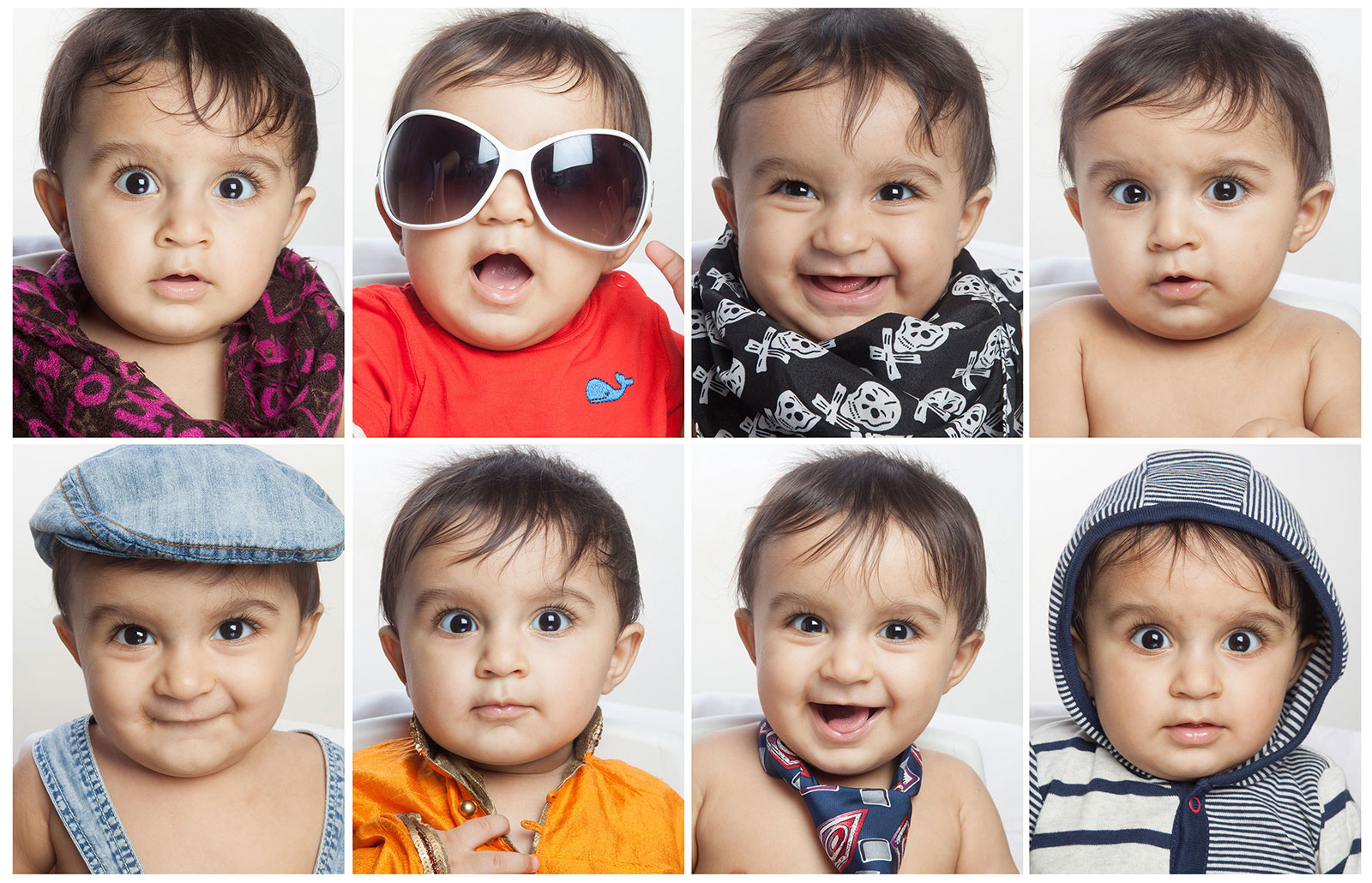 Collage of baby potraits by shailraj brahmbhatt